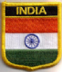 India Embroidered Flag Patch, style 07.